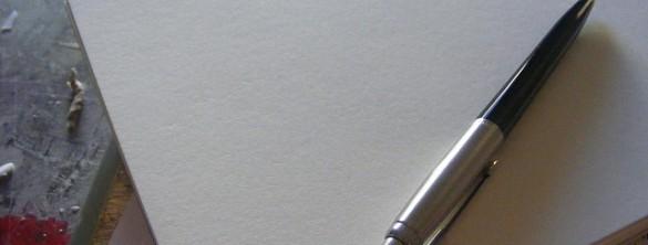 długopis i kartka